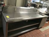 Stainless Steel Table w/ Shelves and Sink
