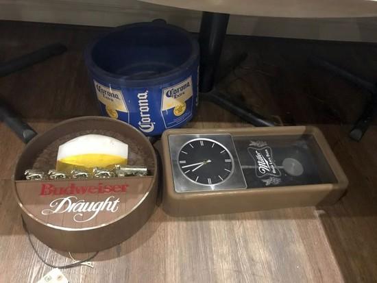 Beer Sign, Clock & Cooler