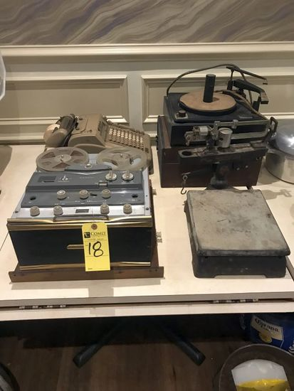 Scale, Turn Table, Recorder, Etc.