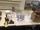 Drinking Glasses, Candle Holders, Ice Skates, Etc.