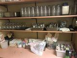 Restaurant Supplies Comprising of: Glasses, Salt & Pepper Shakers, Etc.