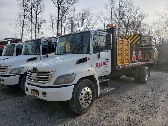 2010 Hino 268 Single Axle Attenuator Truck, Automatic Transmission, Diesel,