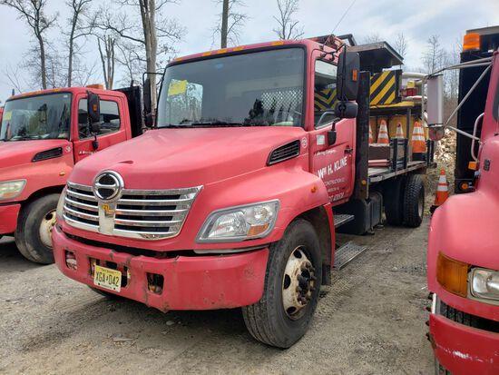 2007 Hino 268 Single Axle Attenuator Truck, Automatic Transmission, Diesel,