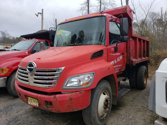 2006 Hino 338 Single Axle Mason Dump Truck, Automatic Transmission, Diesel,