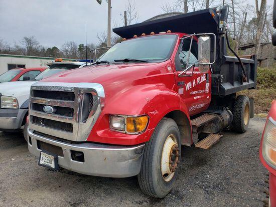 2004 Ford F-650 Xlt Super Duty Single Axle Mason Dump Truck, Automatic Tran