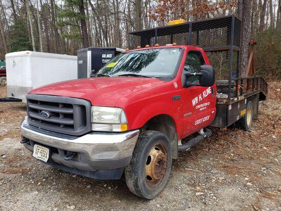 2004 Ford F-550 XL Super Duty Single Axle Reel Truck