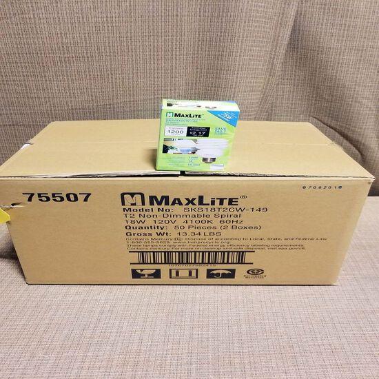 Maxlite CFL 75 Watt Replacement Light Bulbs 1(50) (50 Each)