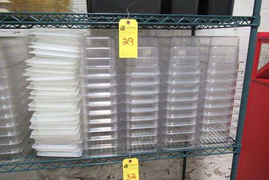 Cambro Plastic Inserts w/Lids