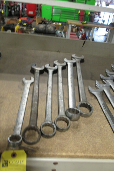 "Combination Wrenches, Asst., 1 1/16""-1 5/8"", (6 Each)"