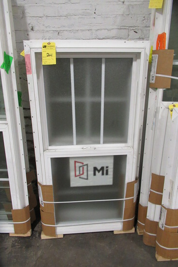 "D/H Window, 23 1/2"" x 47 1/2""  (Frosted Glass)"