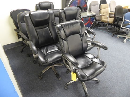 Asst. Rolling Office Chairs, 7 Each (Lot)