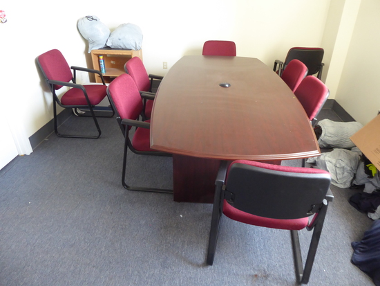 Conference Table w/ (8) Chairs (Lot)