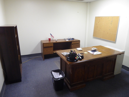 Contents of Room:  Desk, File Cabinet, Credenza, Etc. (Lot)