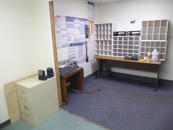 Contents of Room:  Desk, Chair, File Cabinets, Tables, Shelves, Etc. (Lot)