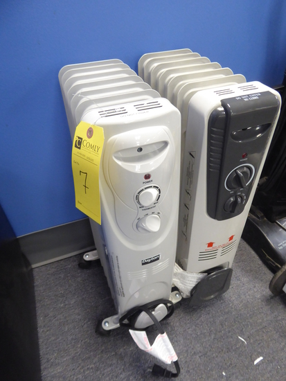 Electric Heaters, 2 Each (Lot)