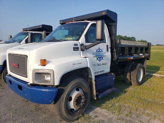 2009 GMC C7500 Single Axle Dump Truck, Regular Cab, Diesel, Automatic Transmission