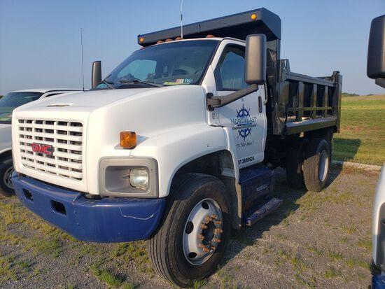 2008 GMC C7500 Single Axle Dump Truck, Regular Cab, Diesel, Automatic Transmission