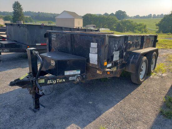 2013 Big Tex 70SR Tandem Axle Steel Dump Trailer, 5'x10', Vin: 16VDX1028D5E55490