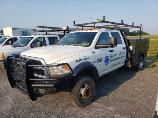 2016 Dodge Ram 4500 Heavy Duty Crew Cab Utility Truck, Cummins Turbo Diese