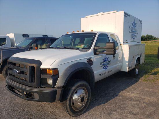 2008 Ford F-550 XL Super Duty Extended Cab Utility Truck, V8 Power Stroke Diesel