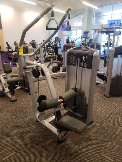 Precor Diverging Lateral Pulldown, Selectorized, m/n Discovery, s/n BA84J19180001