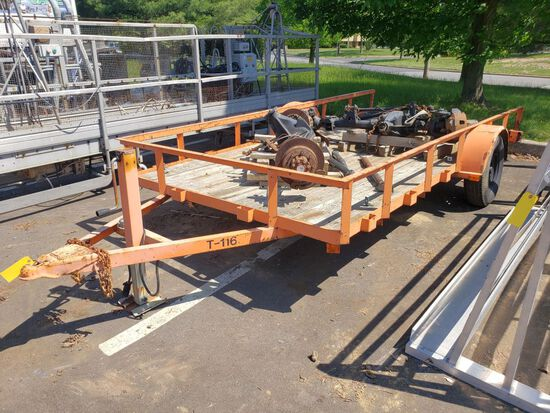 Single Axle Equipment Trailer, 6' x 12'  (T-116)