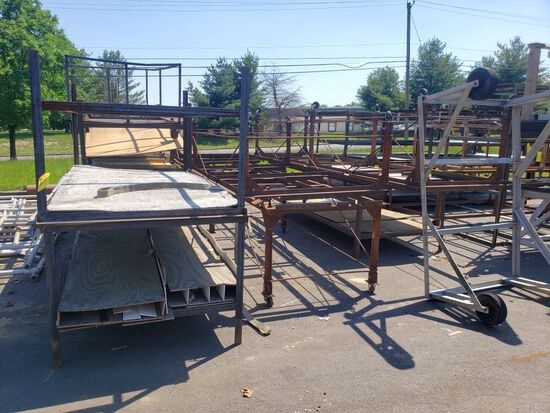 Steel Tables & Carts, Asst.  (10 Each)  (Lot)