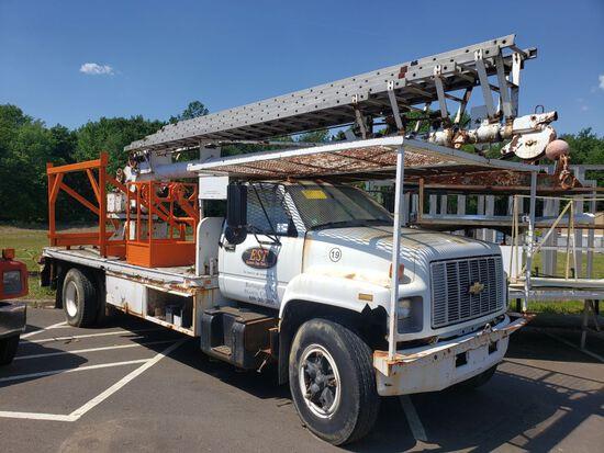 1994 Chevrolet Single Axle Crane Truck, Diesel, Automatic Transmission, Air Brakes, 245,810 Miles