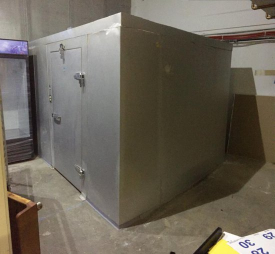 2011 MR WINTER FRIGID COOLERS WALK-IN COOLER, CANCOIL REFRIGERATION COIL, 10'x12' (NO FLOOR)