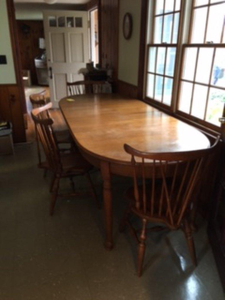 Lot Walter Of Wabash 5 L X 40 W Dining Table Proxibid
