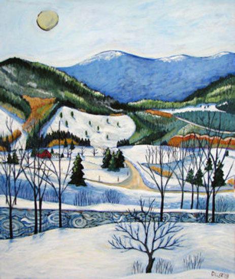 """Framed Claudia Diller """"Winter Tranquil"""" print $225 Value"""