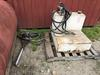 AUXILIARY FUEL TANK & ELECTRICAL FUEL PUMP (NEEDS REPAIR) W/ HAND PUMP & HOSE