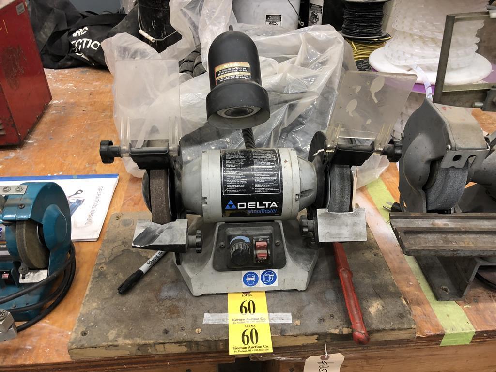 Lot Delta Shop Master Gr250 1ph Bench Grinder Proxibid Auctions