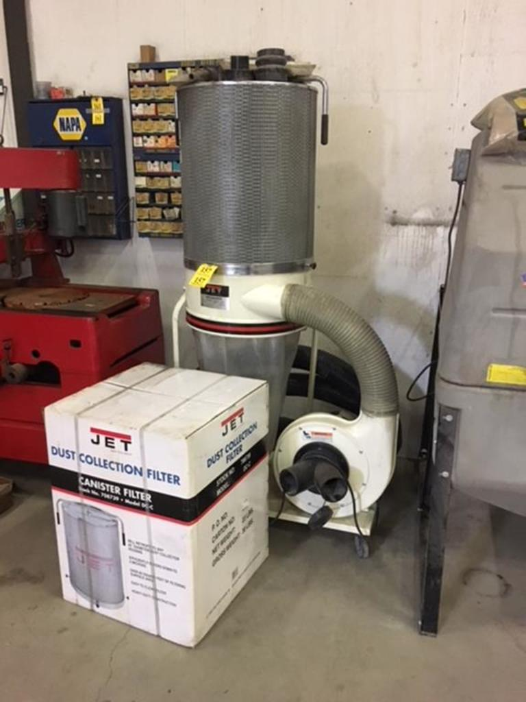 Lot Jet Dc 1200c Dust Collector 2hp 1ph W Spare Canister Filter