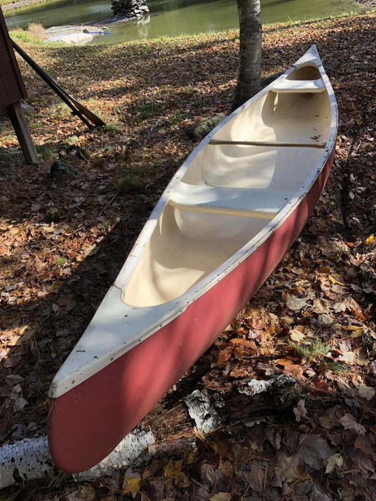 Lot: 16' OLD TOWN CANOE, RED | Proxibid Auctions