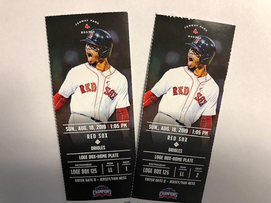 (2) RED SOX TICKETS AUGUST 18TH