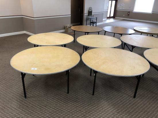 5' ROUND FOLDING BANQUET TABLES