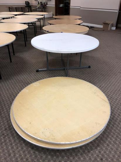 LOT: 5-ASSORTED 5' BANQUET TABLES