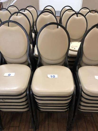 VINYL UPHOLSTERED PADDED BANQUET CHAIRS