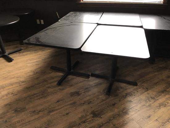 "42"" X 30"" SINGLE PEDESTAL TABLES"
