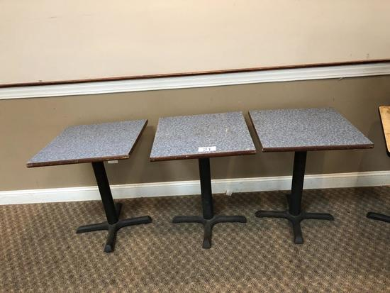 """LOT: (8) 24"""" X 24"""" TOPS & (3) TABLE BASES"""