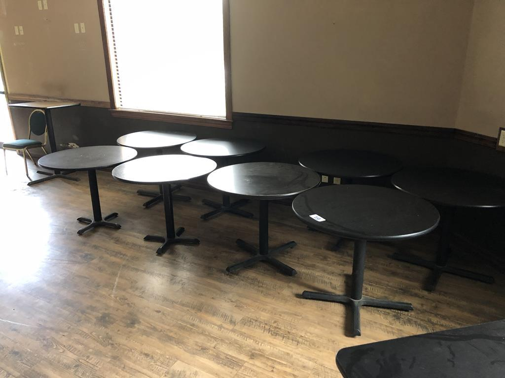 "30"" ROUND SINGLE PEDESTAL TABLES"