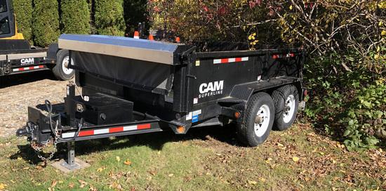 2012 CAM SUPERLINE 5CAM610LPD DUMP TRAILER, TANDEM AXLE