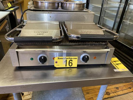 ADCRAFT MODEL SG813B DOUBLE SANDWICH GRILL
