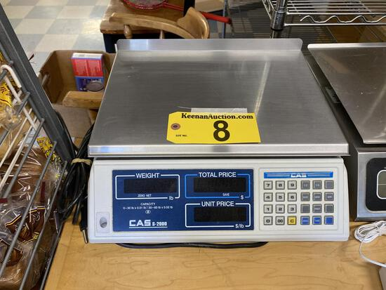 CAS MODEL S2000 30LB. DIGITAL SCALE