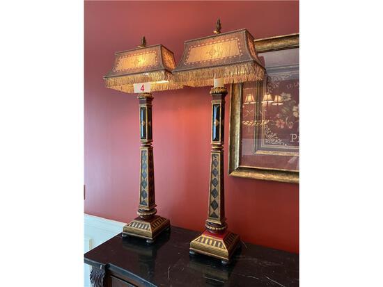 """(2) DECORATIVE LAMPS, 41""""H"""
