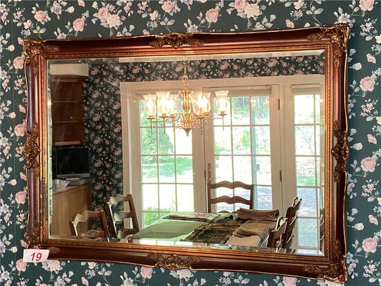 """47""""W X 33""""H GUILDED FRAME MIRROR"""