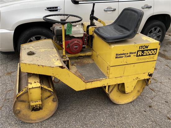 STOW R-2000 ECONO-ROLL S/S WATER TANK ROLLER, W/ HONDA 8HP ENGINE