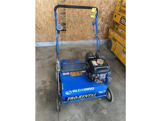 "BLUEBIRD MODEL S22 24"" SEEDER, HONDA 5.5HP GAS ENGINE (NEW PRICE $2,099)"