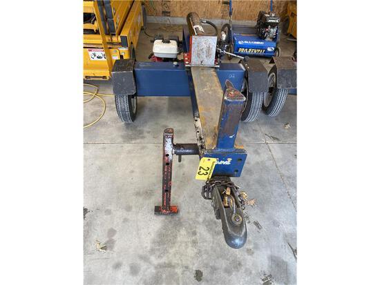 IRON & OAK 20-TON WOOD SPLITTER HONDA GX160 GAS ENGINE, S/N: S021482